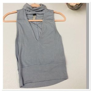 Free People We the Free blue v-neck tank top XS